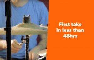 Record drums online, 48 hrs, drum trakcs