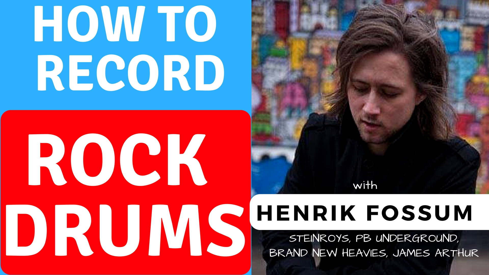 VLOG #1 – How To Record ROCK Drums – with Henrik Fossum