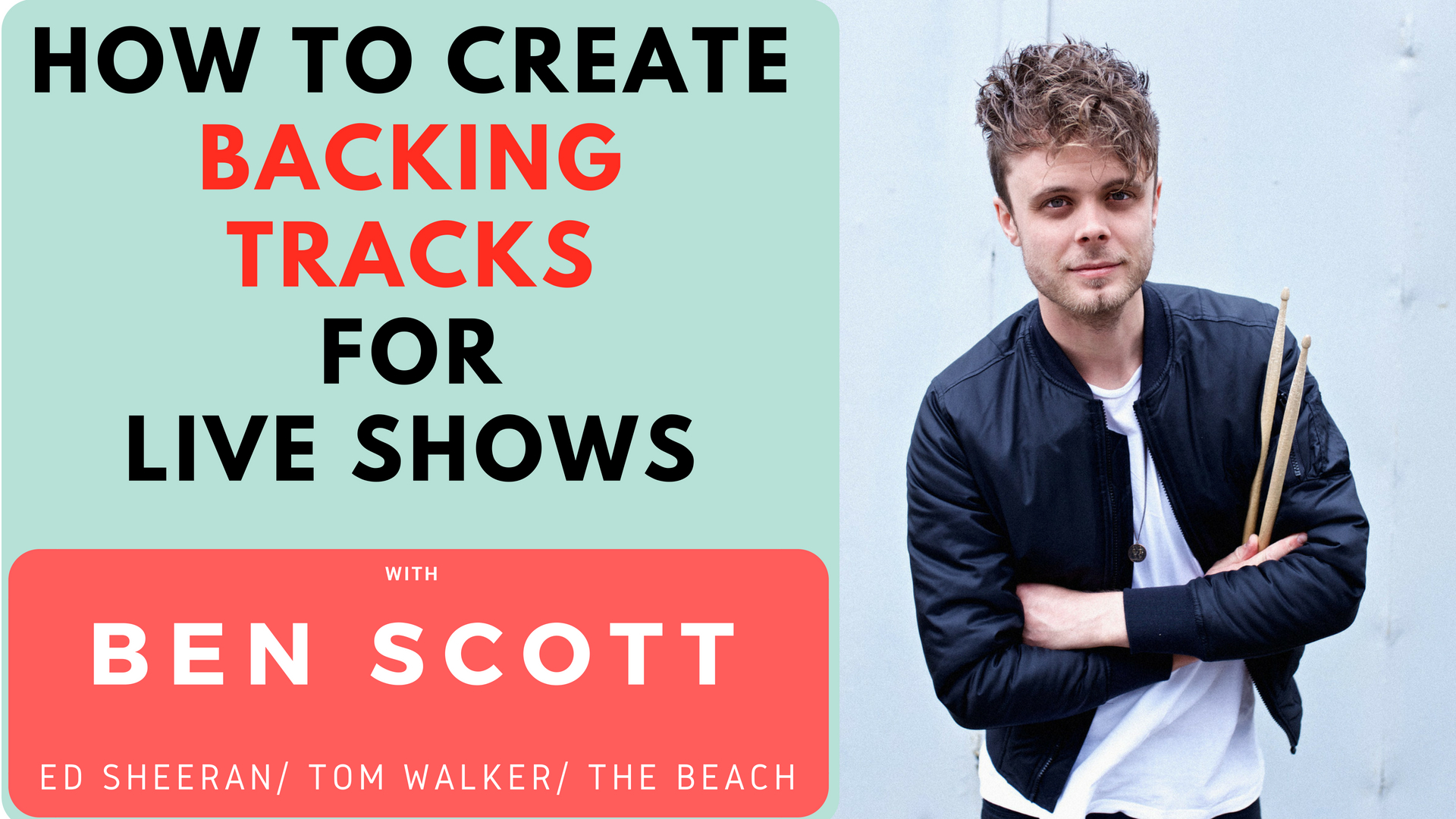 VLOG #3 – How To Create Backing Tracks For Live Shows – With Ben Scott