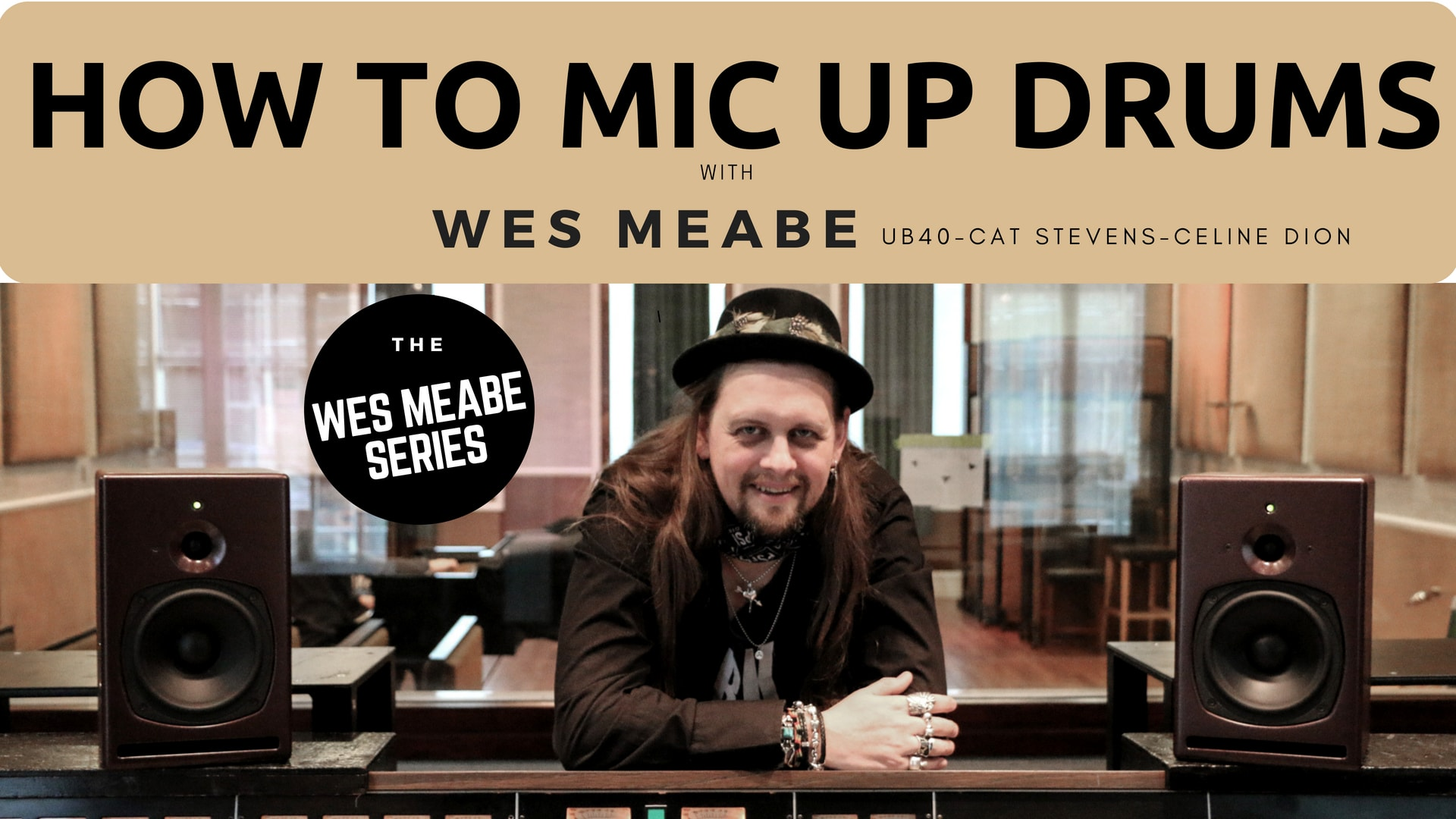 "VLOG #4 – ""The WES MEABE Series"" – How To Mic Up Drums"